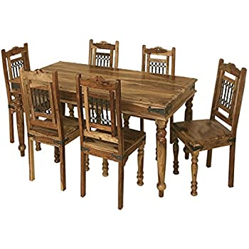 Jali Solid Sheesham Indian Rosewood 1.75M Dining Table / Solid ...