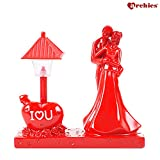 #9: Archies Love Figurine with Lighting Lamp | Polyresin Decorative Red Color Showpiece | Valentine Gift (H - 13.2 Cm)