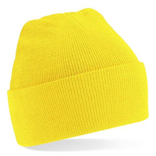 Minions Männer Kostüm - Beechfield Strickmütze, verschiedene Farben Gelb