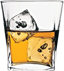 Pasabahce Carre Whisky Glass Set, 310ml, Set of 6