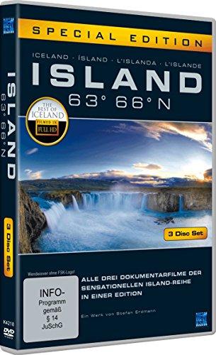 Island 63° 66° N - Eine phantastische Reise durch ein phantastisches Land [Special Edition] [3 DVDs] 63