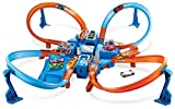 Hot Wheels DTN42 Action Criss Cross Crash Trackset, motorisiertes Auto Looping Spielset mit Parkplätzen inkl. 1 Spielzeugauto, ab 6 Jahren