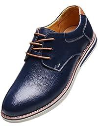 EOZY Chaussure De Ville à Lacet Homme Cuir Pu Oxford Derby Richelieu Style Anglais Bureau