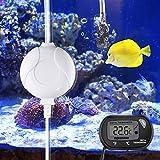 Karidge Super leise Luftpumpe, energiesparende Aquarium-Sauerstoffpumpe unter 33 dB für Aquarium Mini Aquarium und Nano Aquarium(mit Thermometer)