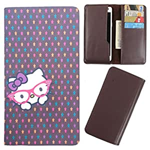 DooDa - For Intex Aqua Q7 PU Leather Designer Fashionable Fancy Case Cover Pouch With Card & Cash Slots & Smooth Inner Velvet