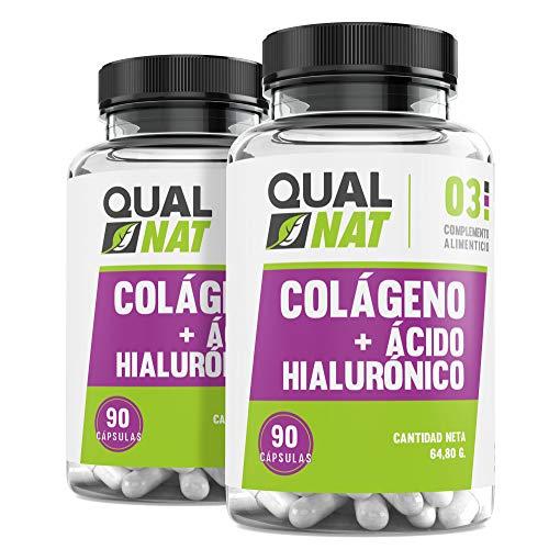 Colágeno con Ácido Hialurónico Cápsulas  Vitaminas C y Zinc   Piel Radiante + Efecto Anti Envejecimiento   Articulaciones Sanas PACK 2