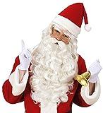Nikolaus Weihnachtsmann Bischof Bart + Perücke + Augenbrauen in Theaterqualität Panelize ®