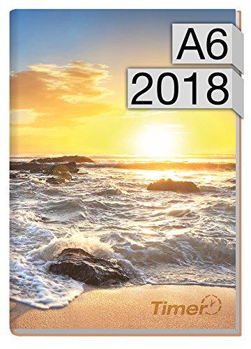 Chäff-Timer mini A6 Kalender 2018 [Sunrise] 12 Monate Jan-Dez 2018 - Terminkalender mit Wochenplaner - Organizer - Wochenkalender