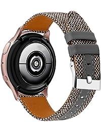 Othor - Correa de reloj de pulsera para Huawei Watch 2 / Watch GT elegante de 42 mm, correa de reloj militar de lona para hombres y mujeres