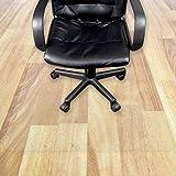 Transparente Bodenschutzmatte in zahlreichen Größen | passgenauer Schutz von Hartböden | Unterlegmatte unter Bürostühle, Fitnessgeräte etc. (100x200cm)