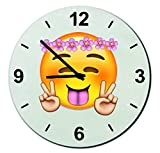 Glas Uhr Ø30 cm