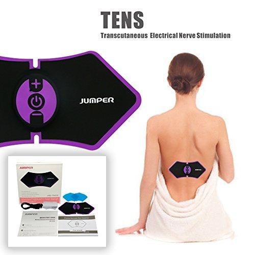 Jumper tn001 elettrostimolatore tens il massaggiatore che da sollievo dal dolore con 5 modalità trattamento del dolore per schiena collo spalle gambe e dolore al nervo sciatico