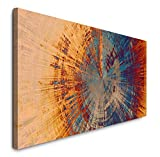 Paul Sinus Art GmbH - Quadro Astratto 120 x 50 cm, Panorama su Tela Formato XXL, Decorazione da Parete per Soggiorno, Appartamento