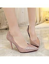 Presidente Carrera superficial zapatos de mujer boca hembra solo zapatos con punta fina, Rosa,34