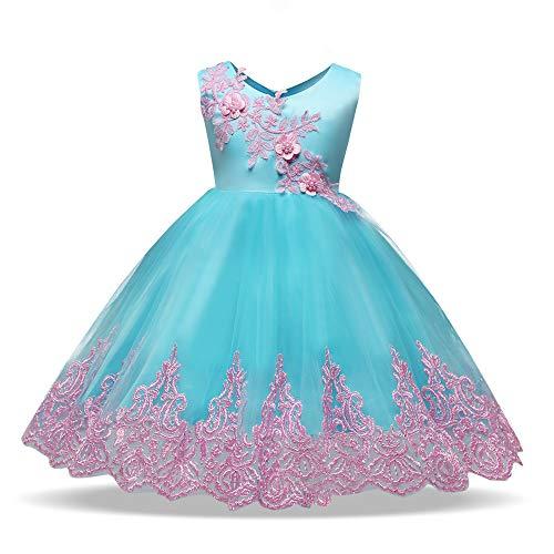 Amphia - (12M-4J Kinder ärmellose bestickte Spitze Zeigen Geburtstag Hochzeit Prinzessin Kleid Rock Kleid - Kind Mädchen Spitze Bowknot Prinzessin Wedding Performance Formale Tutu Kleid Kleidung