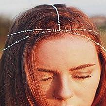 Yean - Cadena para el pelo estilo bohemio para mujeres y niñas 85111242dc99