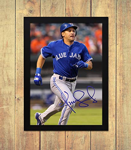 Blue Jay-check (Omar Vizquel - Toronto Blue Jays - MLB 1 - High Gloss Printed Poster - A4 (210 x 297 mm) Personalised Framed)