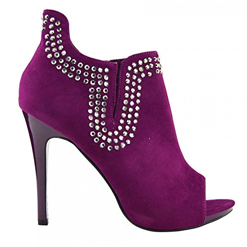 Kick-Scarpe da donna, con tacco alto-Stivaletti alla caviglia Rosa (Lampone)