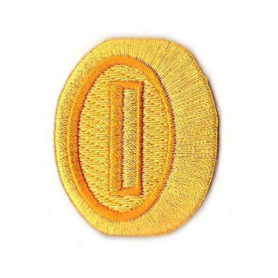 Goldmünze Aufnäher (5.5 cm) Super Mario Brothers Gold Coin bestickt Eisen/Nähen auf Badge Souvenir DIY Kostüm World Kart SNES