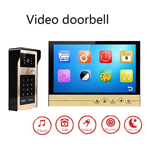 Mengen88 Smart Doorbell 9 Zoll HD Color Large Screen Night Vision Video Intercom Doorbell HD Camera Foto Recordable Password Card Unterstützung maximal 32G TF-Karte -