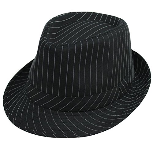 Zhhlaixing Retro Stripe Jazz Cap Fashion Design Unisex Comfortable Casual Fedora chapeau