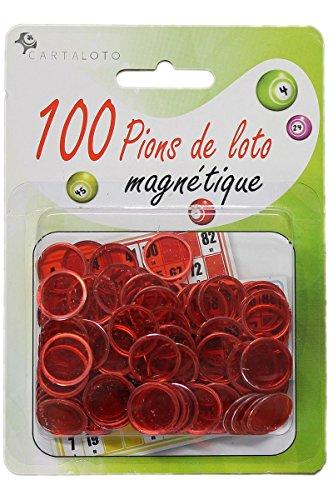 100-pions-de-loto-magnetiques-rouge