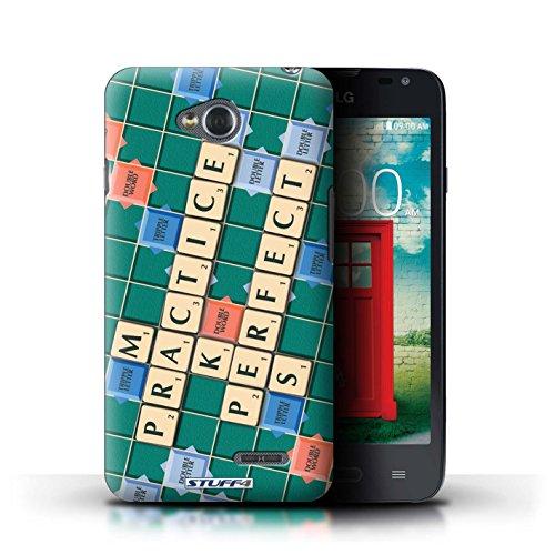 Kobalt® Imprimé Etui / Coque pour LG L65/D280 / Coeur Chaud conception / Série Mots de Scrabble Pratique Parfaite