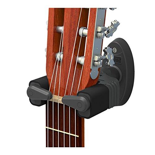 CANTUS Gitarren Wandhalterung mit Automatikschloss für elektrische Akustikgitarren Bässe