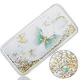 Samsung Galaxy J3 Hülle,Nnopbeclik® Liquid Crystal Bling Bling Soft Flex Silikon Hülle Maßgeschneidert Passgenau Bum