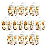 Toyvian Scatole Regalo di Natale Santa Candy Scatole Regalo di Natale 10 Pezzi Scatole Natalizie