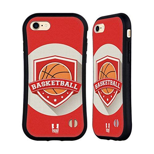 Head Case Designs Hockey Insigne Sportif Étui Coque Hybride pour Apple iPhone 5 / 5s / SE Basketball