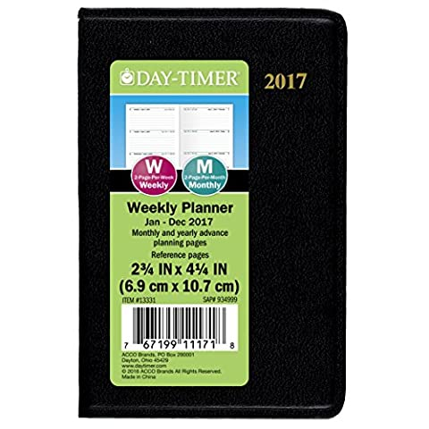 Day-Timer Mini Weekly Planner / Appointment Book 2017, Pocket Size, 2-3/4 x 4-1/4