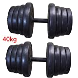 MultiWare 40KG Dumbbell Set Gym Fitness Exercise Sports Home Weights Training (40kg)