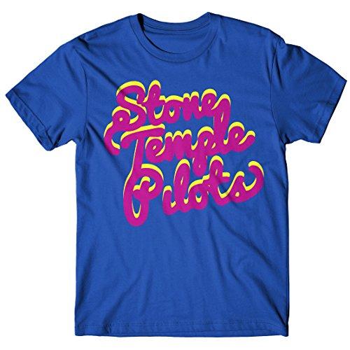 Herren-T-shirt Stone Temple Pilots - Rock 100% baumwolle LaMAGLIERIA Blu