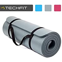 TechFit Tapis de Yoga et Fitness, Extra Epais 10 mm / 15 mm, 180 x 60 cm, Parfait pour des Exercices au Sol, Le Camping, Le Gym, des Stretching, des Abdominaux, Les Pilates