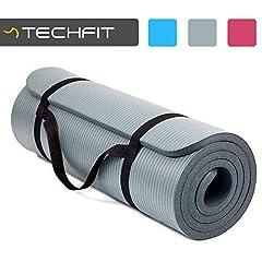 Idea Regalo - TechFit TC97506, Tappetini per Gli Esercizi Unisex Adulto, Grigio, Taglis Unica