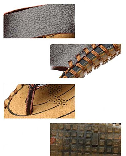 Pantofole cinturini Ciabatte infradito Uomini Clip Toe Pantofole Antiscivolo Cucitura a mano Sandali da spiaggia Scarpe casual Dimensioni Eu 38-44 Khaki