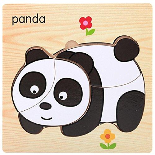 Sisit Puzzle / Jouet en Bois, éducatif développemental bébé (Animal) (Panda)