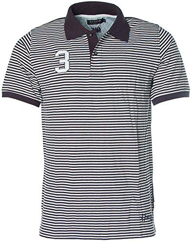 Kitaro Herren Poloshirt Polo T-Shirt Pikee Navy