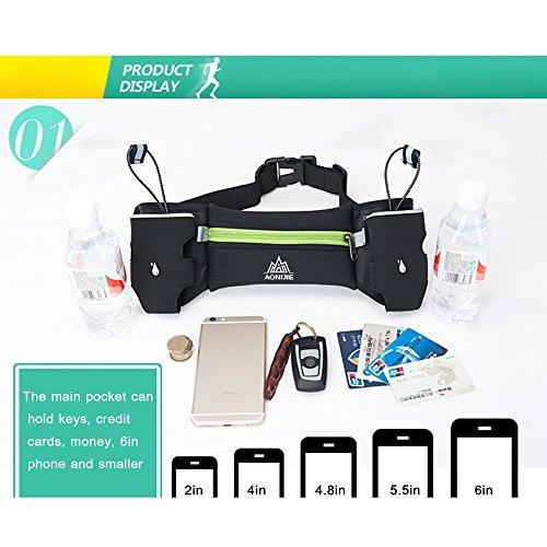 Lixada Sport Hüfttasche Unisex: Leichte Waist Pack mit Dual Flaschenhalter Leicht und Langlebig Blau