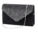 Yuan Women Clutch Bag Classic Pleated Envelope Clutch Shoulder Bag Evening Handbag Purse