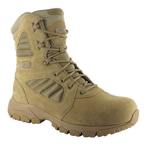 HI-TEC - Magnum Lynx 8.0 Desert Tan Side Zip Schuhe Herren Boots Ranger Security Polizei Paintball Neu -