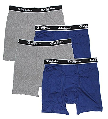 Champion Mens Elite X-Temp Boxer Briefs Blue/Grey