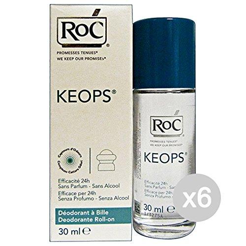 Juego 6Roccobarocco Roc Desodorante Roll-On Keops