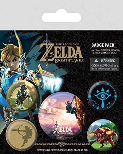 Preisvergleich Produktbild 1art1 102993 The Legend Of Zelda - Zelda Breath Of The Wild The Climb Button Pack 15 x 10 cm