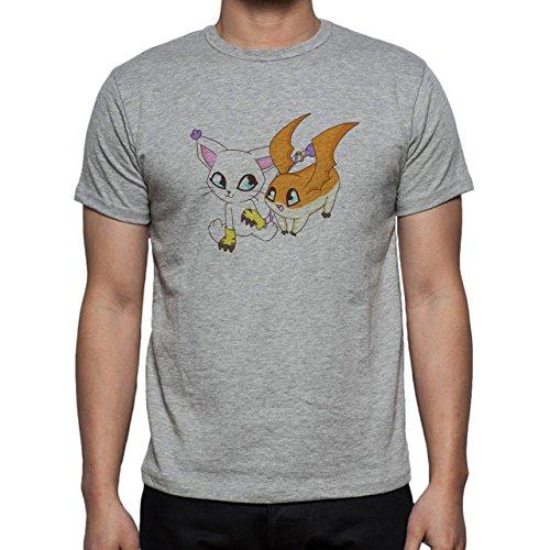 DigimonPatamon Angemon Angewoman Cat Herren T-Shirt Grau