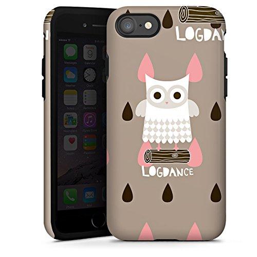 Apple iPhone X Silikon Hülle Case Schutzhülle Eule Holz Stamm Tough Case glänzend