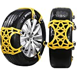 DINOKA Snow Chain, 6 pcs Universal Anti-skid Snow Chains Adjustable for Car/Truck /
