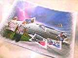ALLIANZ-ARENA und verschiedene FC Bayern-Stars als Kunstdruck -direkt vom Künstler 30cm x 42cm