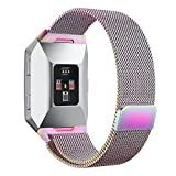 """Fitbit Ionic Watch Strap,PUGO TOP Milanese Loop Magnet Stainless Steel Bracelet Strap Band for Fitbit Ionic Smartwatch-Colorful(Large:6.5""""-9.9"""")"""